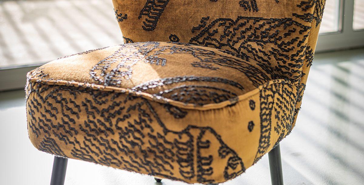 Fauteuil tissu baroque